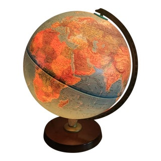 Vintage Replogle Light Up Globe