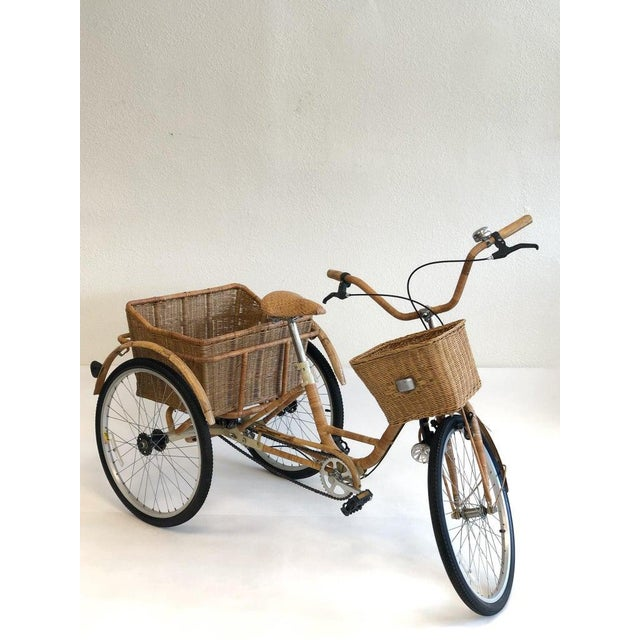 Wicker and Bamboo Tricycle For Sale - Image 4 of 12