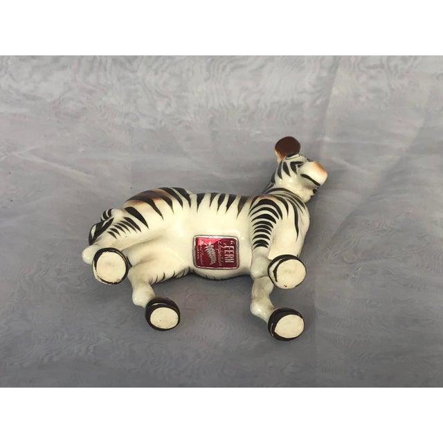 Mid-Century Modern Fern Importation Ceramic Zebra Figurine For Sale - Image 10 of 12