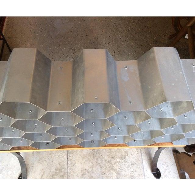 Galvanized Honeycomb Wine Rack - Image 3 of 4