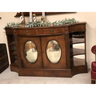 Hollywood Regency Sideboard With Oval Mirrored Doors Preview