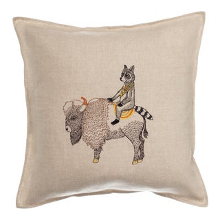 Contemporary Linen Sentinel Pillow For Sale