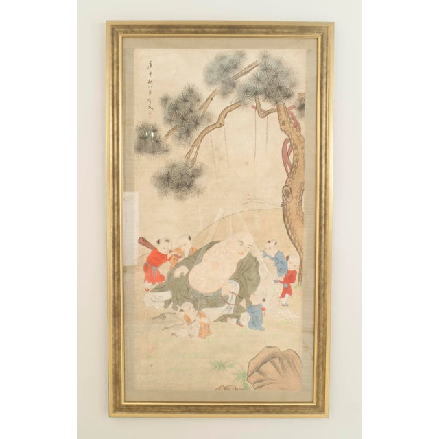 Asian Chinese Style Watercolor Portrait For Sale - Image 4 of 4