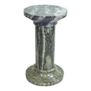 Vintage Figured Granite Neoclassical Column Pedestal For Sale