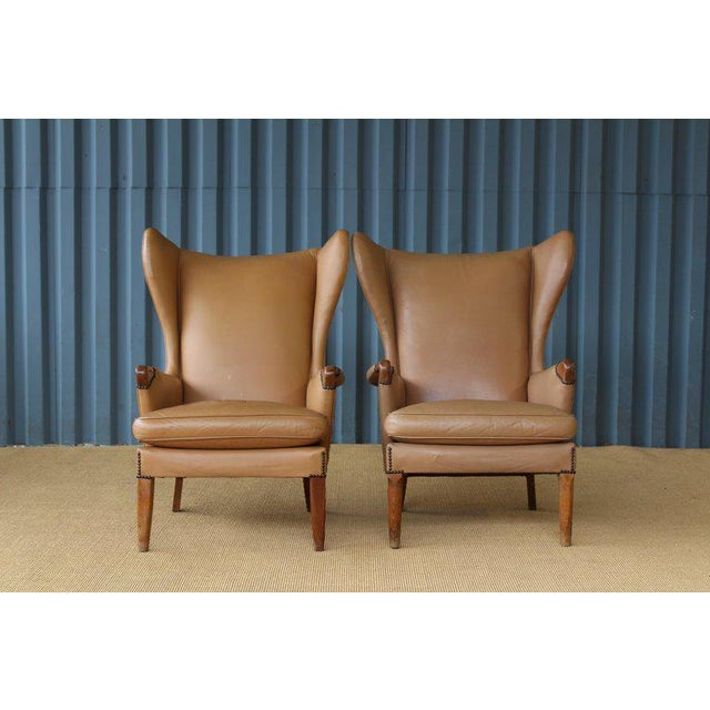 Tan Pair of Armchairs by Parker Knoll, United Kingdom, 1950s For Sale - Image 8 of 13