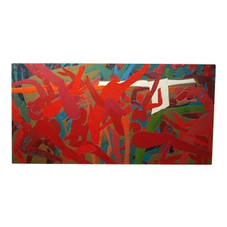 1975 Robert Hansen Abstract Oil Painting For Sale