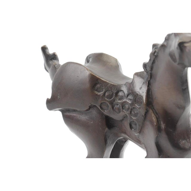 Vintage Mid-Century Bronze Abstracted Surrealist Inspired Horse Sculpture For Sale In Dallas - Image 6 of 9