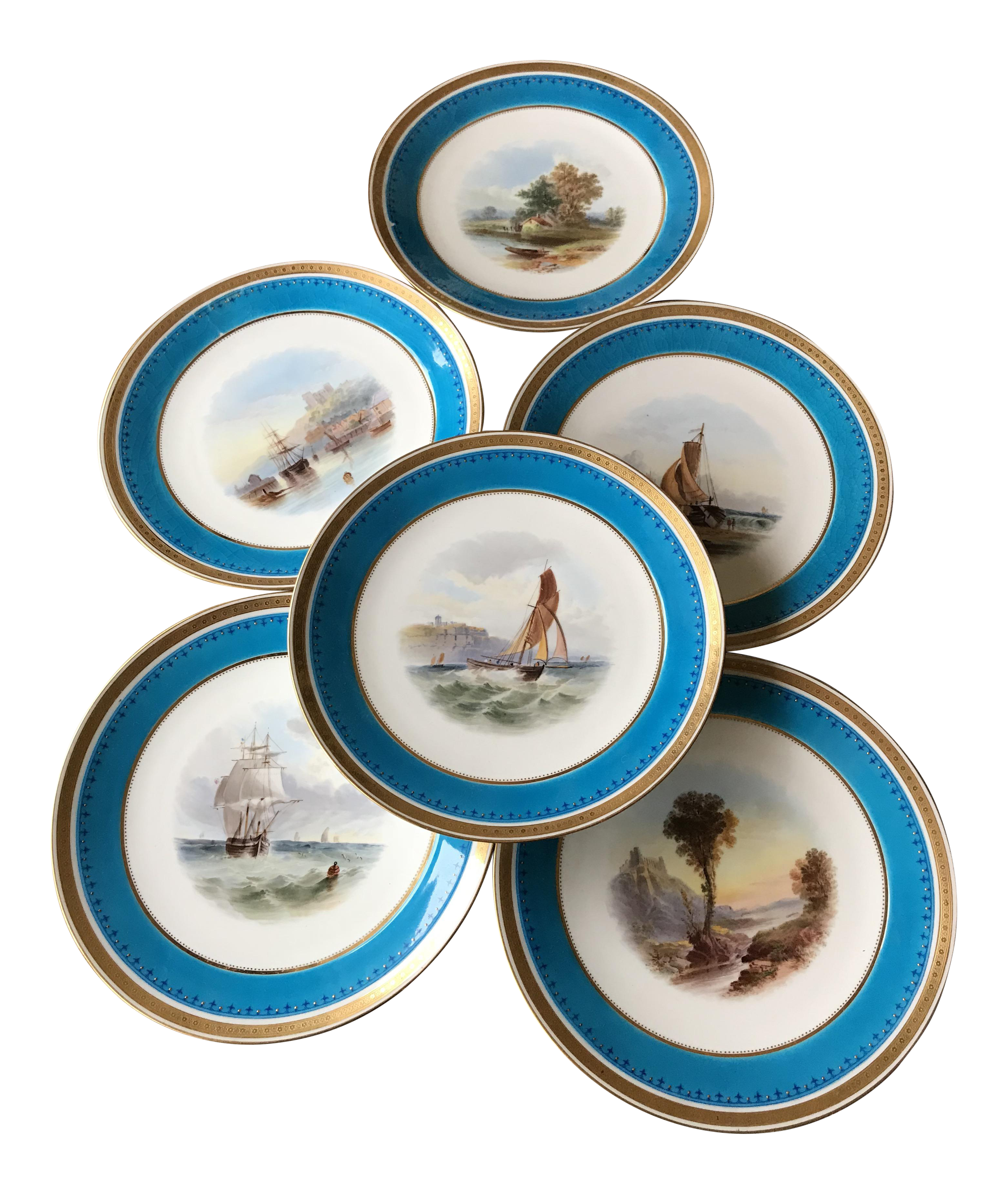 Antique Nautical Minton Dinner Plates - Set of 6  sc 1 st  Chairish & Antique Nautical Minton Dinner Plates - Set of 6 | Chairish