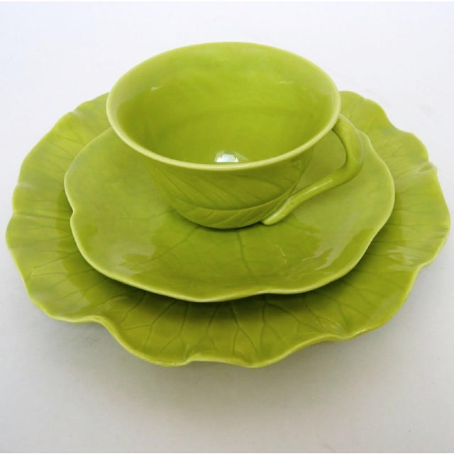 Ceramic Chartreuse Porcelain Tea Service, 22 Pieces For Sale - Image 7 of 10