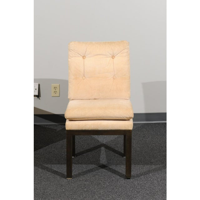 Sophisticated Set of 10 Brass Parsons Dining Chairs by John Stuart, Circa 1968 For Sale In Atlanta - Image 6 of 13