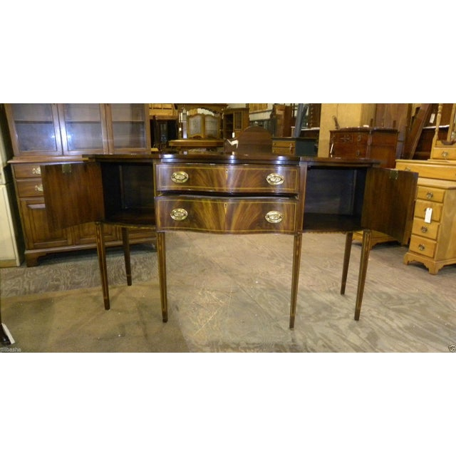 Henkel Harris Mahogany Server Buffet For Sale - Image 4 of 10