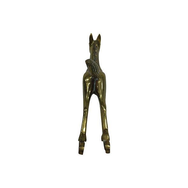 Large Brass Rocking Horse - Image 4 of 5