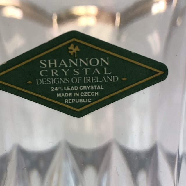 Shannon Crystal Shannon Crystal Fluted Vase For Sale - Image 4 of 10