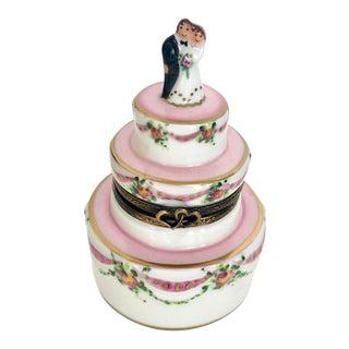 Rochard Limoges Wedding Cake Box For Sale