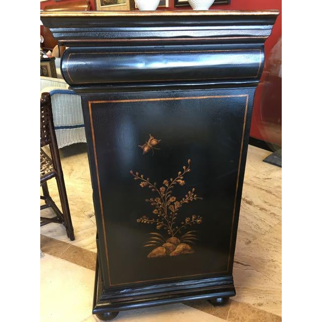 Gold Dennis and Leen Chinoiserie Lacquer Dresser Chest of Drawers For Sale - Image 7 of 13