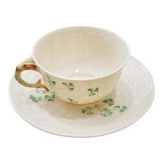 Beleek Clovers Cup & Saucer For Sale