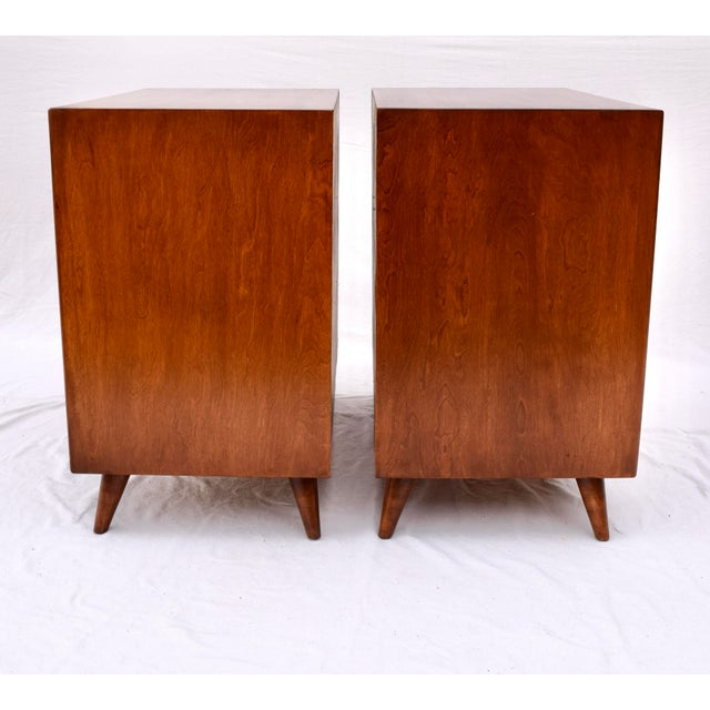 Mid-Century Modern 1950's John Stuart Bachelor Chests, Pair For Sale - Image 3 of 12