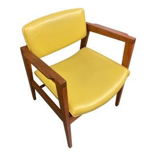 Mid Century Modern Walnut Arm Chair by Gunloke Co. For Sale