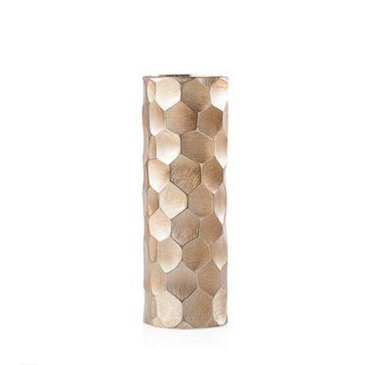 2010s Brushed Gold Cylinder Vase - Medium For Sale - Image 5 of 5