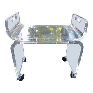 1970s Vintage Space Age Alibaba Alladin Lucite Bench For Sale