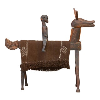 Antique African Dogon Horse & Rider For Sale