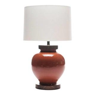 Lawrence & Scott Luca Porcelain Lamp in Living Coral For Sale