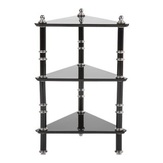 A Rare Transitional Side Table / Etagere by Warren McArthur For Sale