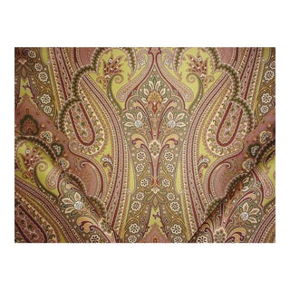 Scalamandre Sc 000416363 O'Marra Pea Taupe Gold Paisley Upholstery Fabric - 2-3/4y For Sale