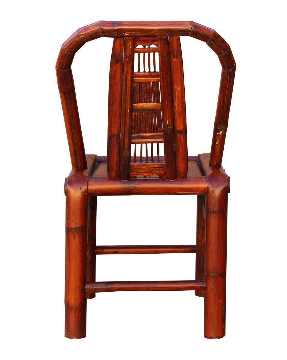 Exceptional Handmade Classic Oriental Village Bamboo Relax Back Chair For Sale   Image  4 Of 5