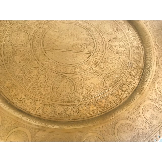 Boho Chic Zodiac Brass Plate For Sale - Image 3 of 7
