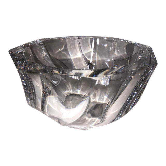 1980s Orrefors Residence Bowl by Olle Alberius For Sale