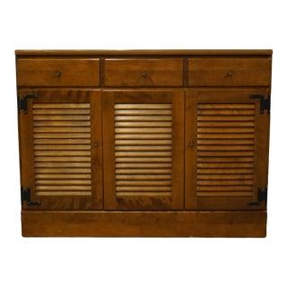 """Ethan Allen Heirloom Nutmeg Maple Crp 40"""" Shutter Door Buffet / Sideboard 10-4553p For Sale"""