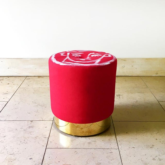 """A Unique Luke Edward Hall Hand Painted Cora Stool by Talisman Bespoke Created for """"Designed at Talisman"""" Collaborative..."""