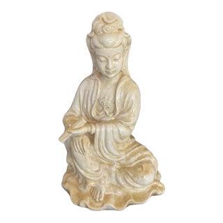 Asian Figure of Ceramic Glazed Quan Yen Figure For Sale