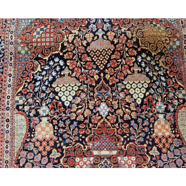 1880s, Handmade Antique Persian Dabir Kashan Rug 4.1' X 6.2' For Sale In New York - Image 6 of 12