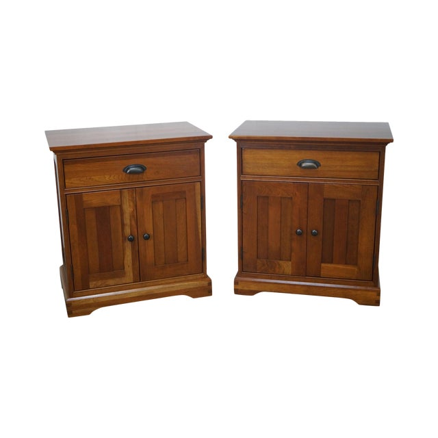 Michaels Furniture Traditional Solid Cherry Nightstands - A Pair - Image 1 of 10