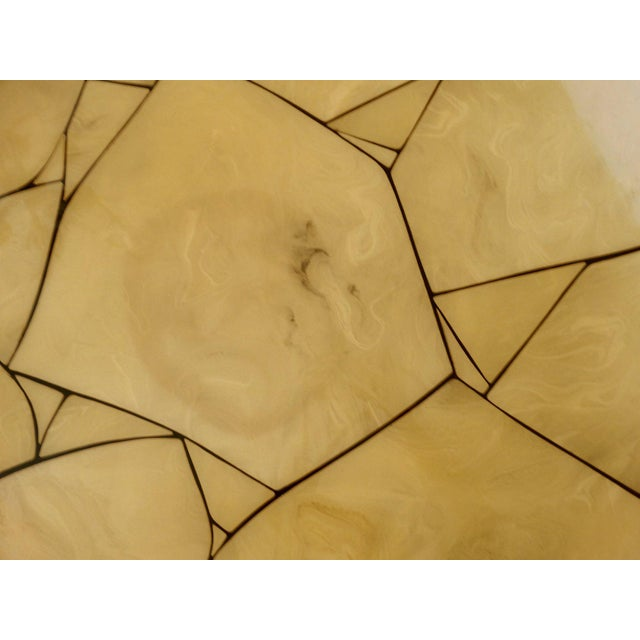 Italian Lacquered Faux-Marble Table - Image 3 of 6