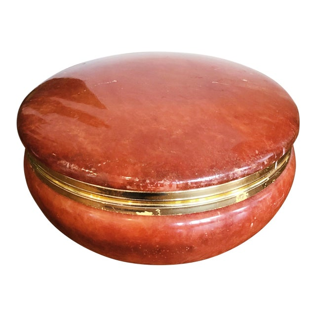 Italian Red Alabaster Box For Sale