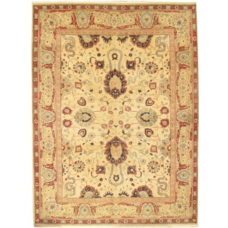 """Pasargad N Y Sultanabad Design Hand-Knotted Rug - 9'0"""" X 12'2"""" For Sale"""