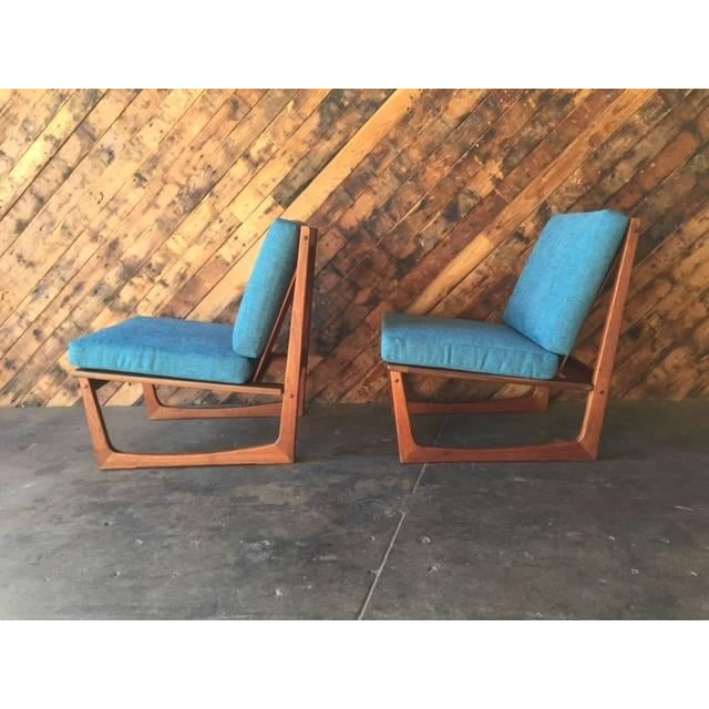 Mid Century Danish Lounge Chairs, Jacob Kjaer - 2 - Image 4 of 6
