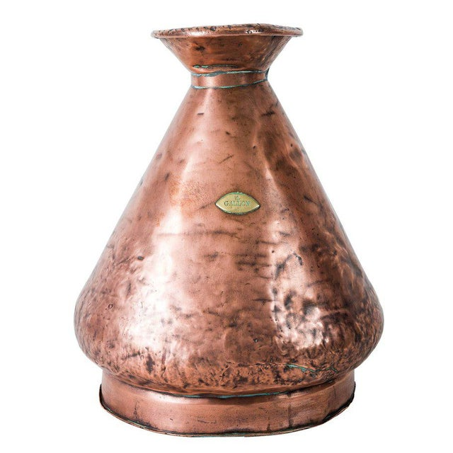 Metal Large Four Gallon Victorian English Copper Ale-Beer Measuring Jug For Sale - Image 7 of 11