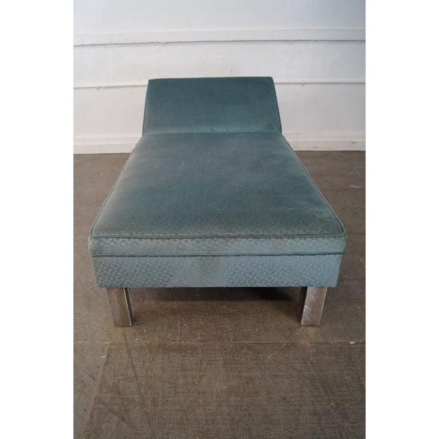 Studio Crafted Brushed Steel Framed Upholstered Chaise Lounge - Image 2 of 10