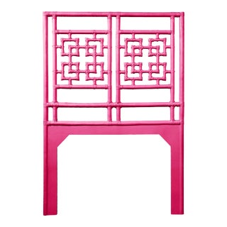 Palm Springs Headboard Twin - Bright Pink For Sale