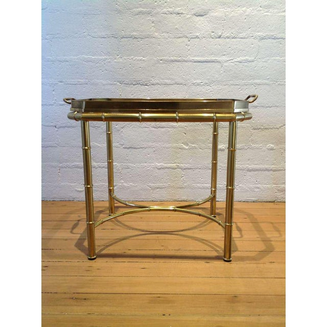 Mastercraft Brass Tray Table For Sale In Palm Springs - Image 6 of 6