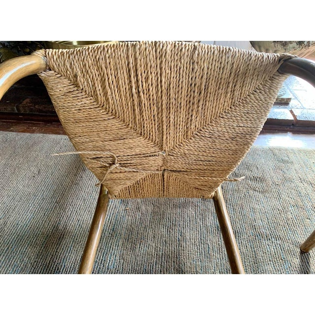 Pair, Mid Century Chairs With Rope Seats For Sale - Image 12 of 12