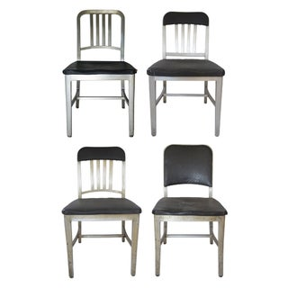 Emeco Aluminum Navy Chairs, Assorted - Set of 4 For Sale
