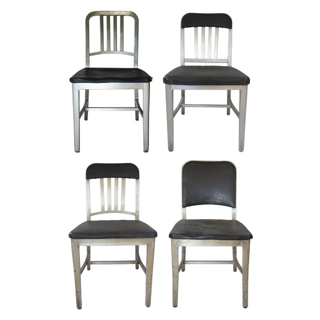 emeco aluminum navy chairs assorted set of 4 chairish