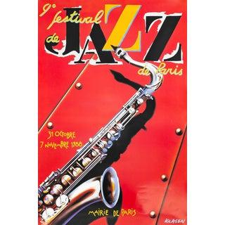 1988 Vintage French Jazz Poster, 9ieme Festival De Jazz Paris For Sale
