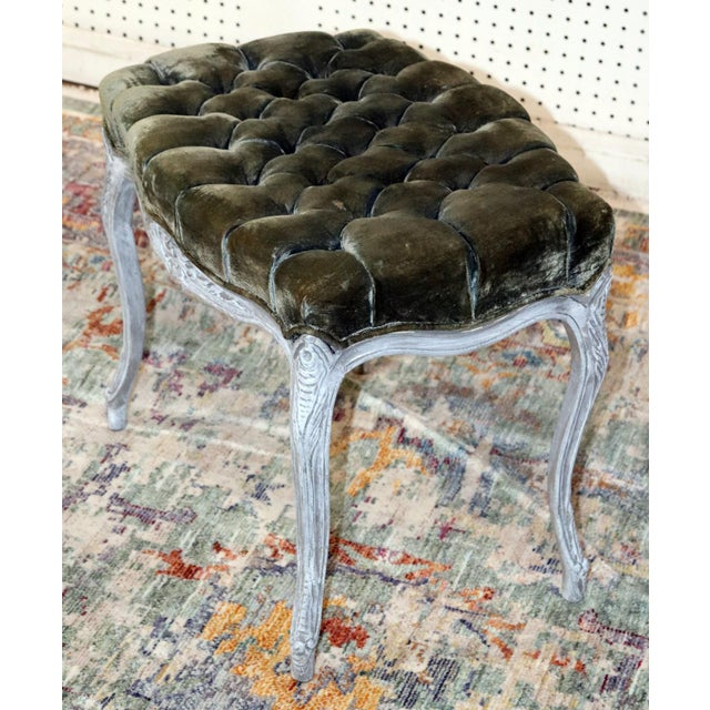 Early 20th Century Vintage Louis XV Style Stools - a Pair For Sale - Image 5 of 11