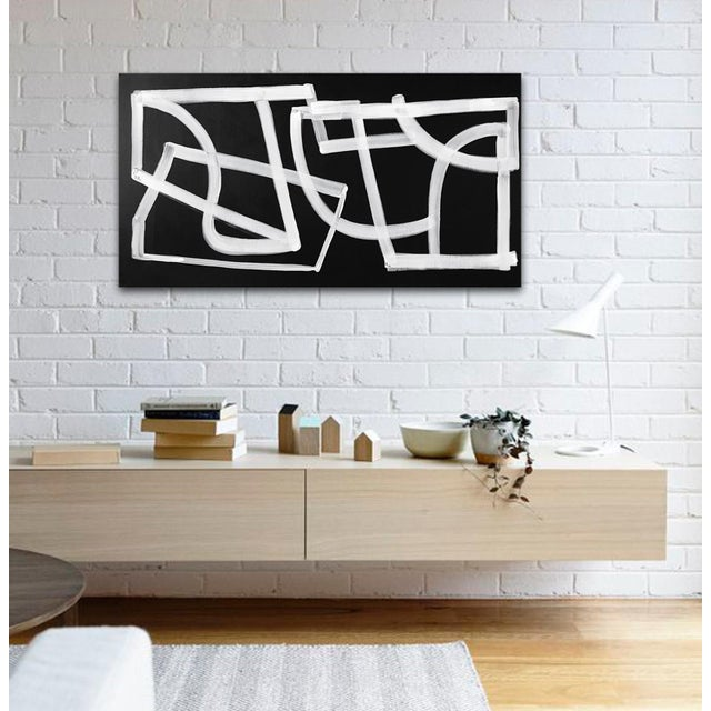 'Spaceboy' original abstract painting by Linnea Heide For Sale - Image 4 of 9